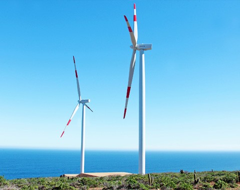 ACCIONA puts its first wind farm in Chile into service, using the most powerful turbines installed in the country