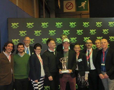 ACCIONA receives for the third time the JEC Innovation Award thanks to its achievements in composite materials with the European project Biobuild