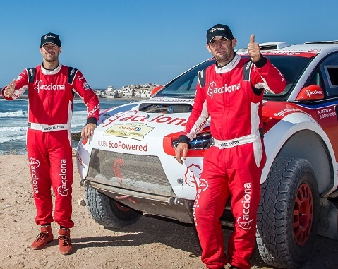 The ACCIONA 100% EcoPowered car makes history