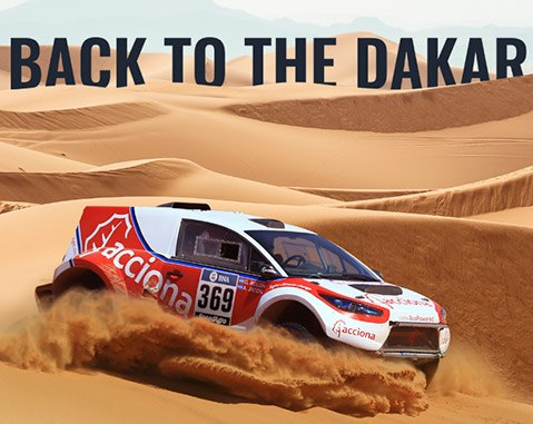ACCIONA 100% EcoPowered returns to the adventure of the Dakar Rally