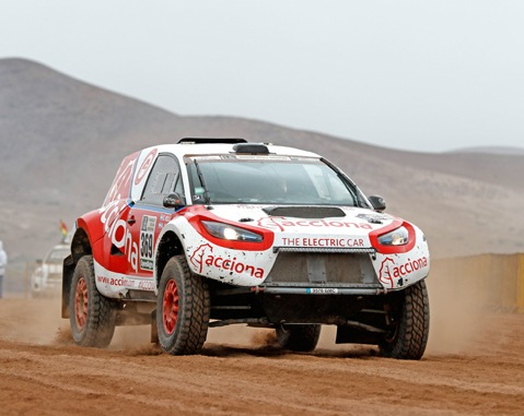 ACCIONA 100% Ecopowered faces decisive stretch of the Dakar Rally