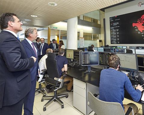 EC Vice-President Maroš Šefčovič visits ACCIONA Renewable Energy Control Centre
