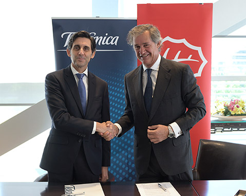 Telefónica and ACCIONA sign agreement for renewable electricity supply in 2018